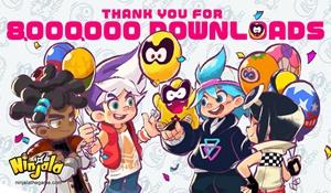《泡泡糖忍战》官方发布贺图庆祝游戏下载量突破800万