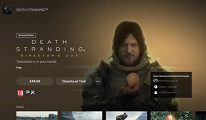 PS5上线游戏试玩功能 仅限英国、含死亡搁浅:导剪版