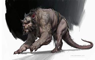 《黑神話:悟空》原畫藝術圖公布 雙頭老鼠精手持短刀