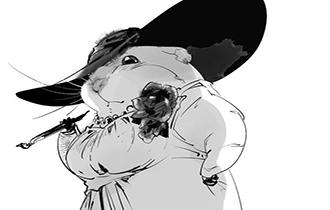 大触绘制仓鼠版《生化8》夫人 贵妇变萌物,别有韵味