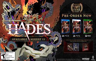 《哈迪斯》將推出PS4/PS5實體版 內含精美藝術設定圖