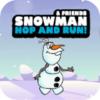 雪人和朋友跳跃跑