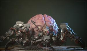 Epic资深画师重绘《毁灭战士3》版蜘蛛首脑 造型惊悚