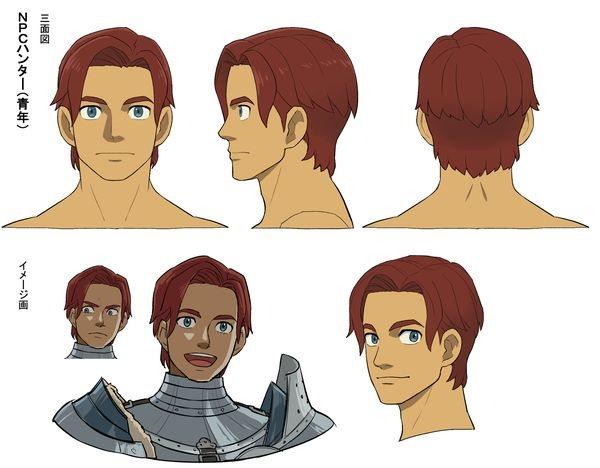 《怪猎物语2:破灭之翼》角色设定图 表情、服饰细节